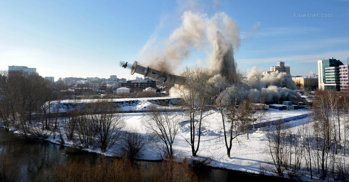 Foto+Video: Jekaterinburgas pasaules augstākā grausta sagraušana